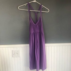 Lilac racerback knit tank dress